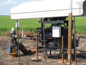 Aquarius pump control unit on a diesel pump in field