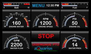 Aquarius diesel pump control screen