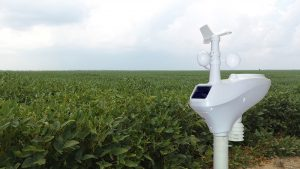 Aquarius weather station in a field